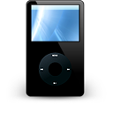 iPod Black Icon 128px png