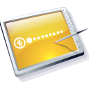 Tablet Gold Icon icon
