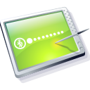 Tablet Lime Icon icon