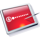 Tablet Red Icon icon