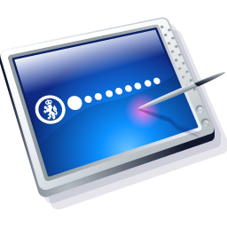 Tablet Blue Icon 256px png