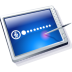Tablet Blue Icon 72px png