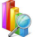 Chart Search Icon icon