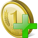 Coin Add Icon 128px png