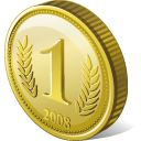 Coin Icon 128px png