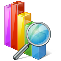 Chart Search Icon 256px png
