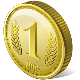 Coin Icon 256px png