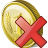 Coin Delete Icon 48px png