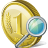 Coin Search Icon 48px png