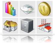 Stock di icone: Vista Business Icons