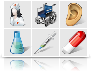 Stock di icone: Vista Medical Icons