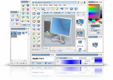 image editing software free download full version. Now, AWicons offer latest version AWicons Pro 10.0 with ready-to-use effects