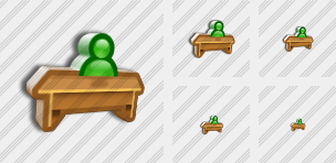 Pupil Desk Icon