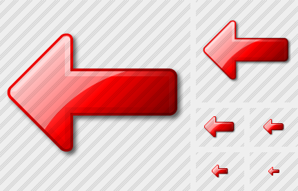 Arrow Left Red Icon