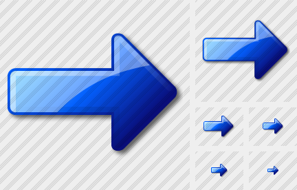 Arrow Right Blue Icon
