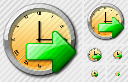 Icone Clock Export