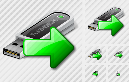 Flashdrive Export Icon