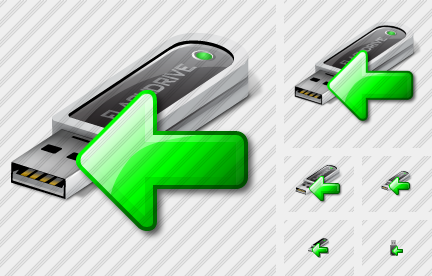 Flashdrive Import Icon