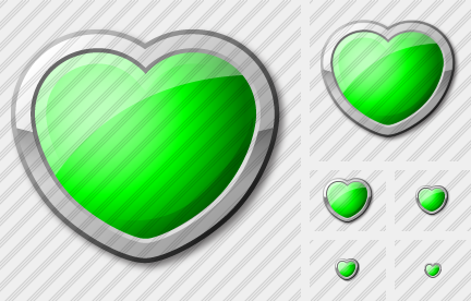 Icone Heart Green