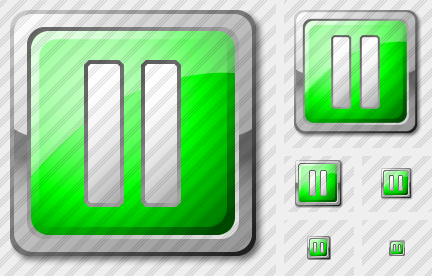Media Pause Green Icon