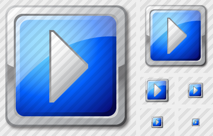 Media Play Blue Icon