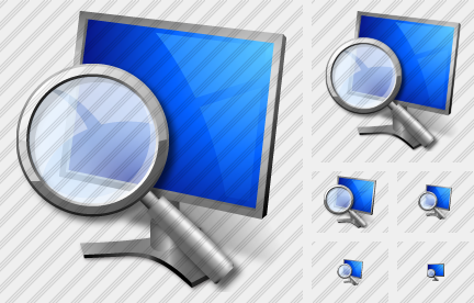 Monitor Search Icon