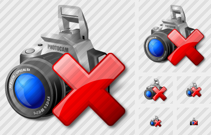 Photocamera Delete Icon