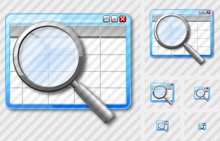 Table Icon Generator Table Search Icon