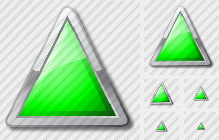 Icone Triangle Green