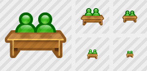2 Pupils Desk Icon