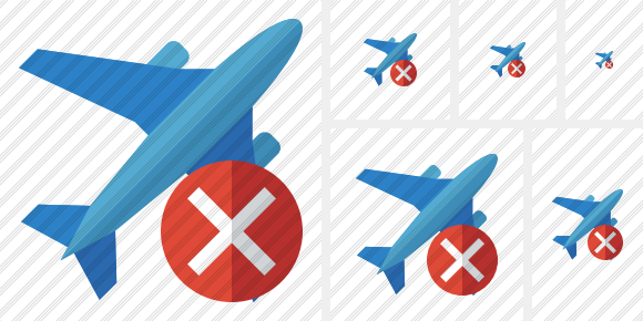 Airplane 2 Cancel Icon