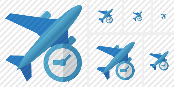 Airplane 2 Clock Icon