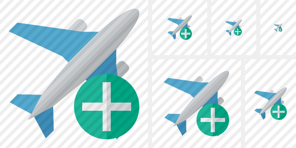 Airplane Add Icon