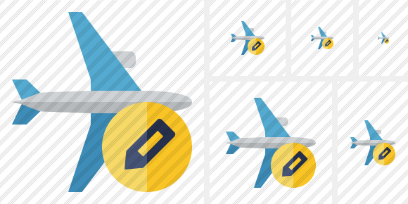 Airplane Horizontal Edit Icon