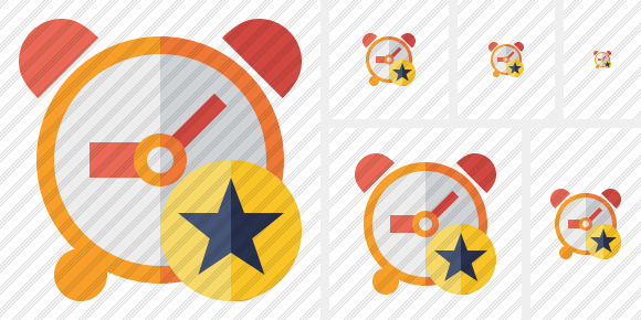 Alarm Clock Star Icon