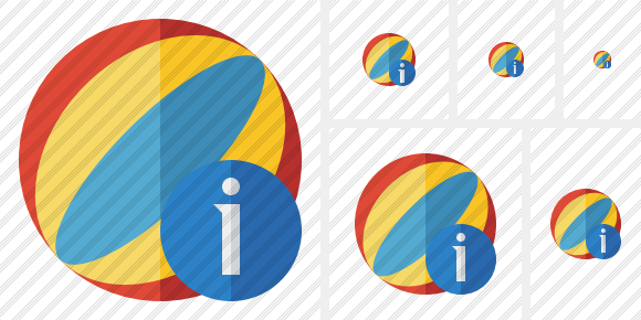Beach Ball Information Icon