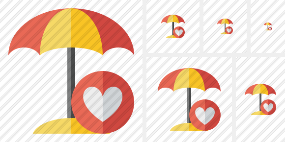 Beach Umbrella Favorites Icon