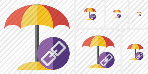 Beach Umbrella Link Icon