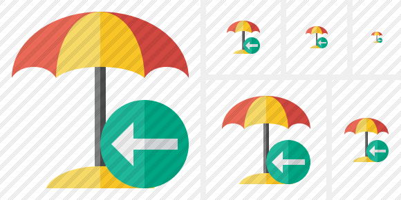 Beach Umbrella Previous Icon