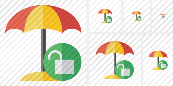 Beach Umbrella Unlock Icon