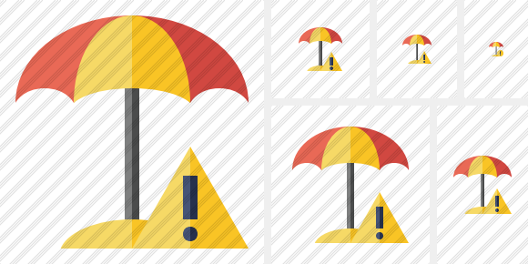 Beach Umbrella Warning Icon