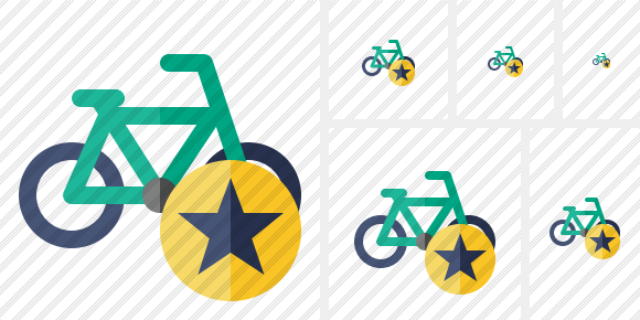 Bicycle Star Icon