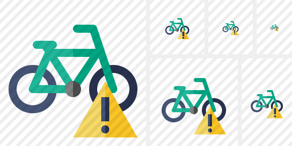 Bicycle Warning Icon