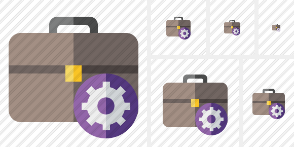 Briefcase Settings Icon