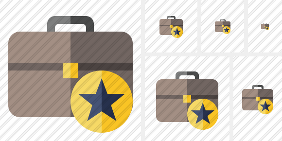 Briefcase Star Icon
