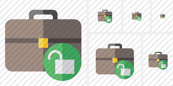 Briefcase Unlock Icon