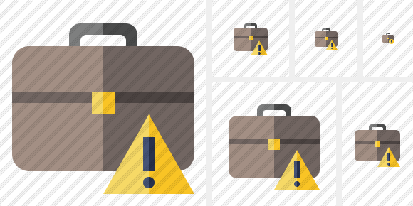 Briefcase Warning Icon