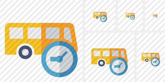 Bus Clock Icon