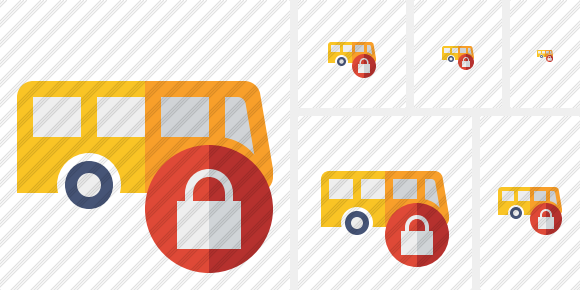 Bus Lock Icon
