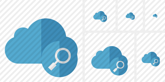 Cloud Blue Search Icon